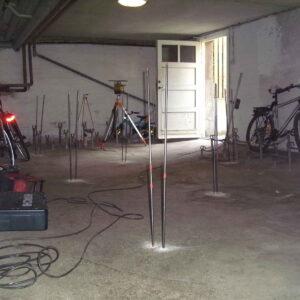 Opretning af betongulv i kælder