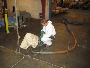 Stabilisering af Industrigulvet med Uretek Metoden