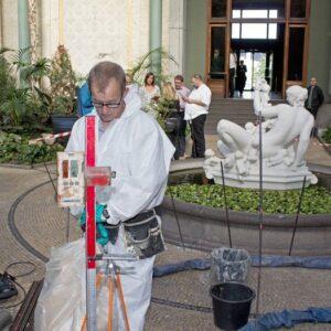 Stabilisering og opretning af gulv i Glyptoteket