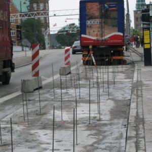 Stabilisering af busholdeplads