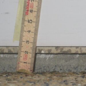 Gulvets sætning målt under stabilisering