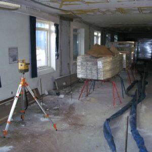 Stabilisering af gulvet i bygningsdel under renoveringen