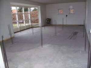 Stabilisering af stuegulvet