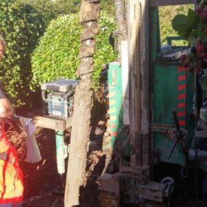 Optagning af jordprøve til geoteknisk undersøgelse