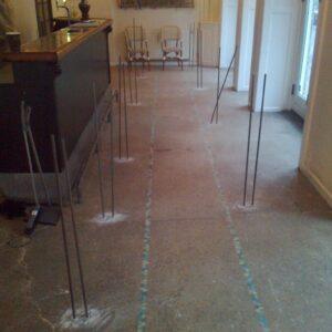 Stabilisering af det flotte gulv i Cafe Wilders