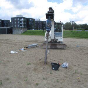 Installering af ScrewFast Skruepæl til svævebane i Haderslev