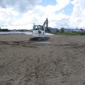 Næsten færdig Installeret ScrewFast Skruepæle i Haderslev