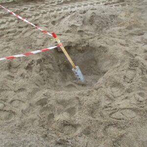 ScrewFast Skruepæl i sandet til svævebane i Haderslev