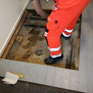 Geoteknisk boreprøve i hus