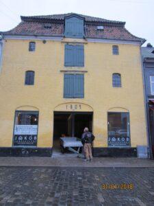 Facaden på Badstuegade i Aarhus