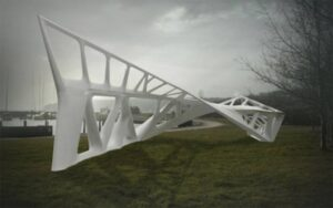 Betonskulptur i Aarhus eksperimentalkonstruktion Opticut